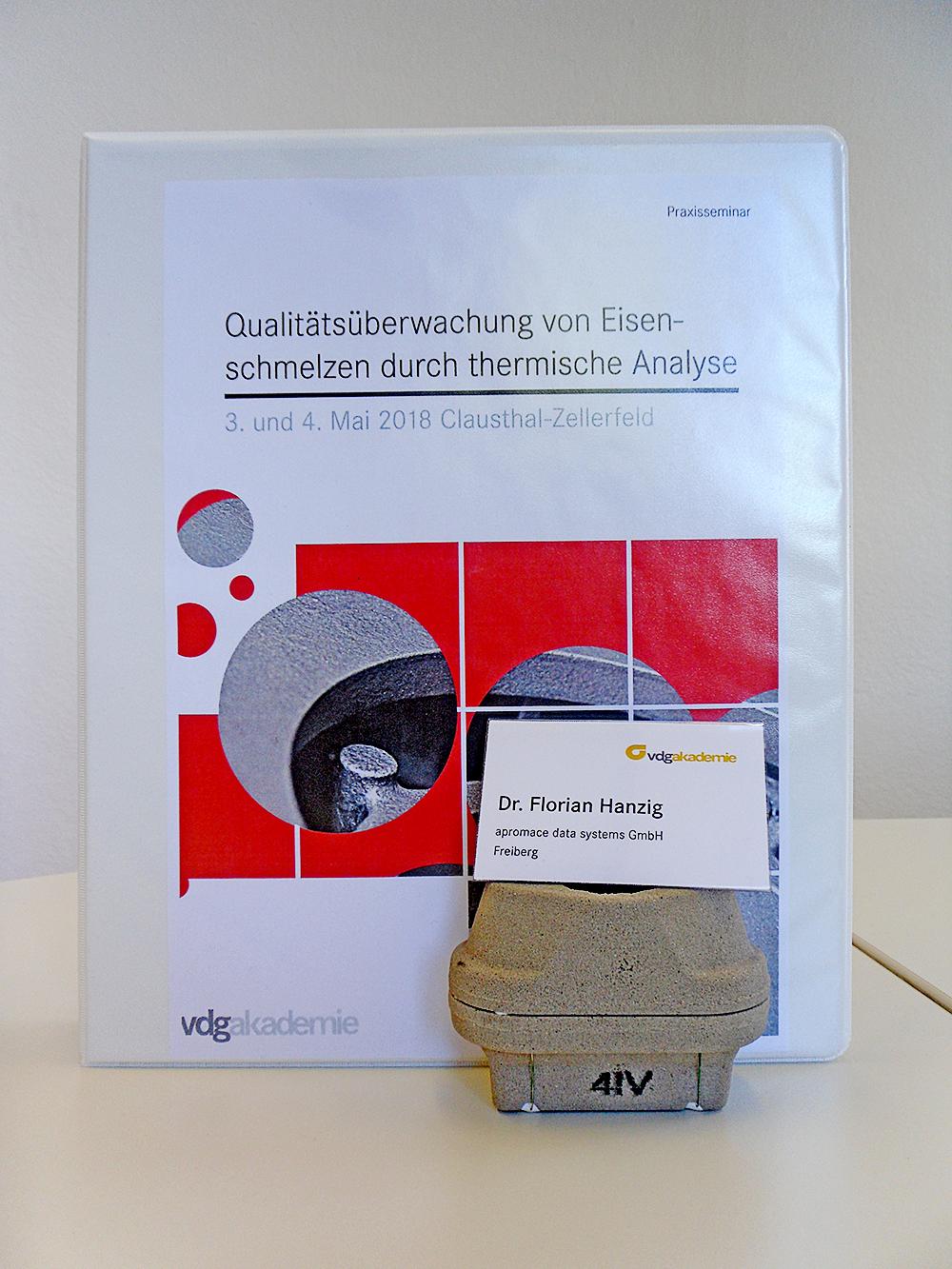 Vortrag zum Praxisseminar zur thermischen Analyse (Foto: F. Hanzig | apromace data systems GmbH)