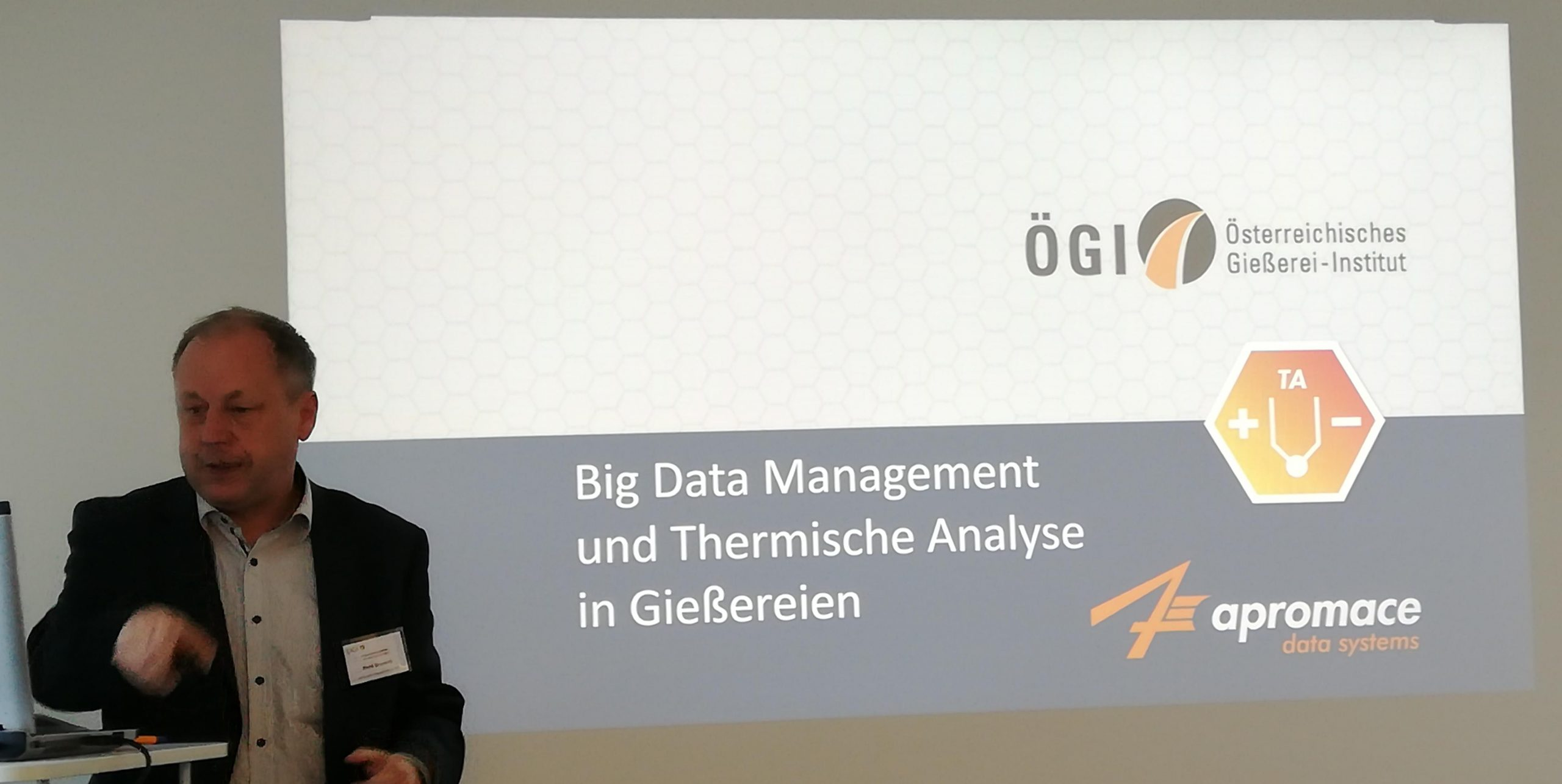apromace-Vortrag am ÖGI in Leoben zum 2. innoUP-Projekttreffen (Foto: F. Hanzig | apromace data systems GmbH)